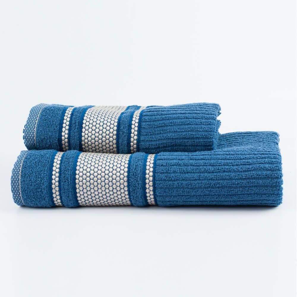 Jogo Toalhas de Banho Azul 2 Peças Princess 100% algodão - LM