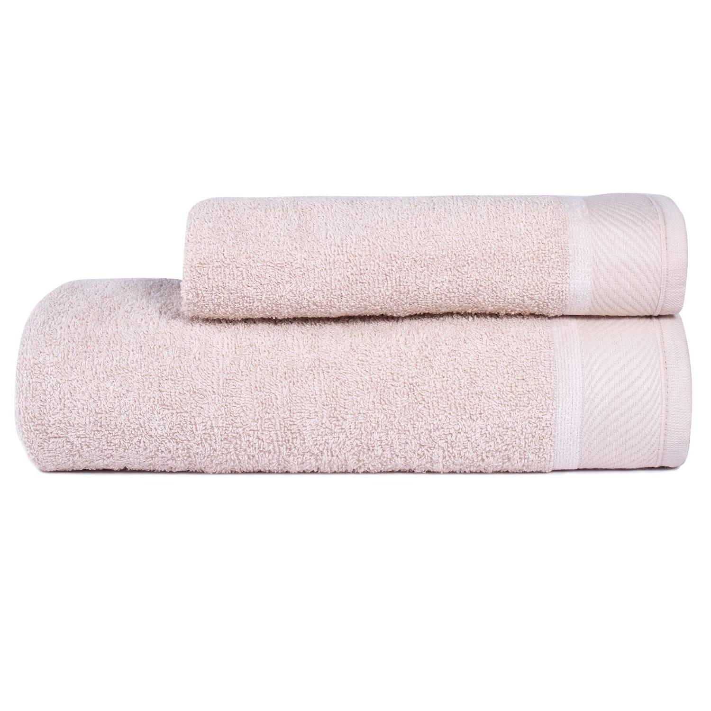 Jogo Toalhas Banho 2 Peças Eleganz 100% algodão  Areia