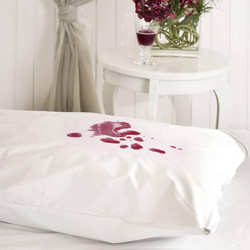 Capa Protetora para Travesseiro Impermeável com Ziper 50 x 70 cm Branco - Atlântica