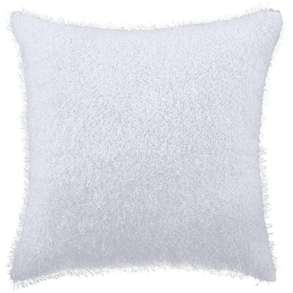 Capa de Almofada Texturizada Pelucia Branco 45cm x 45cm