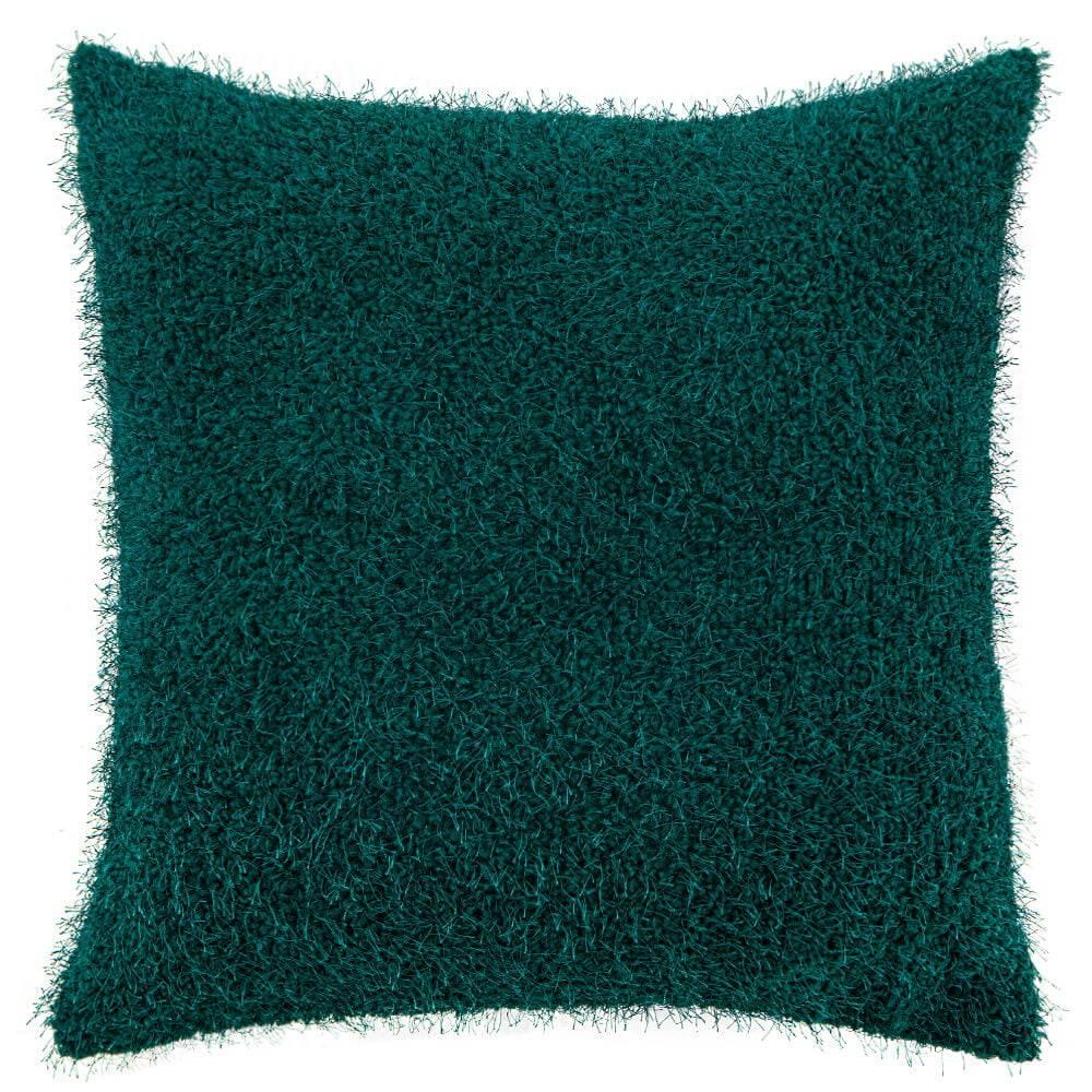 Capa de Almofada Texturizada Pelucia Verde 45cm x 45cm