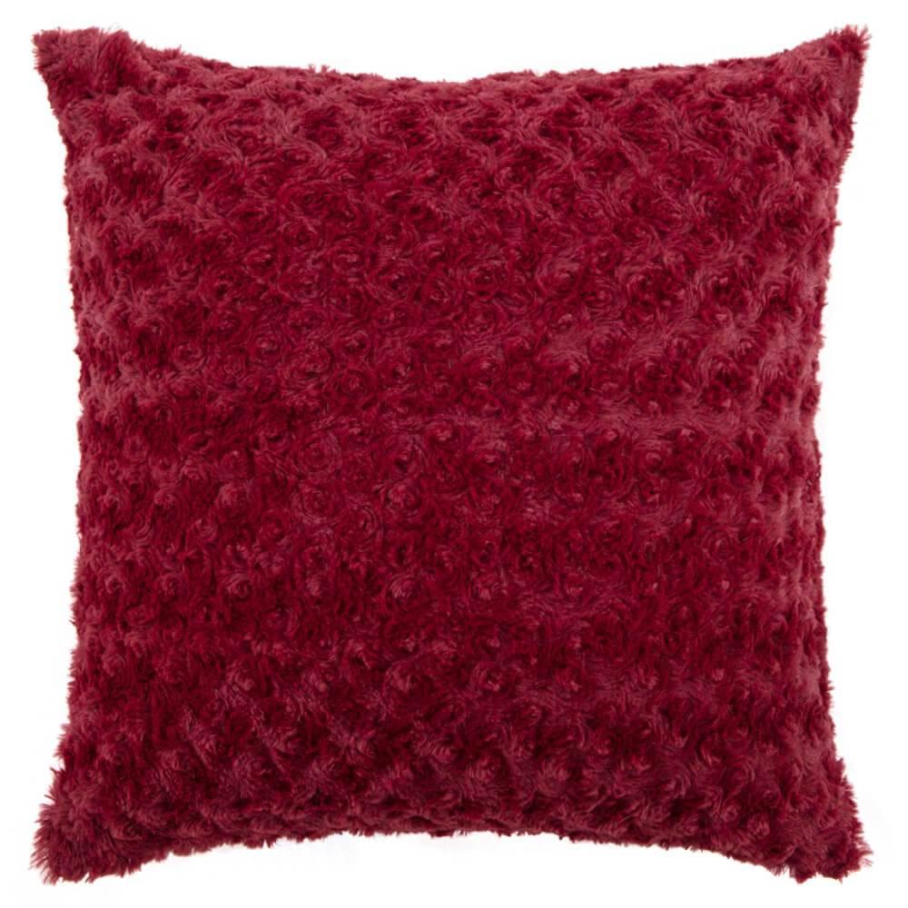 Capa de Almofada Texturizada Rosas Vermelha 45cm x 45cm