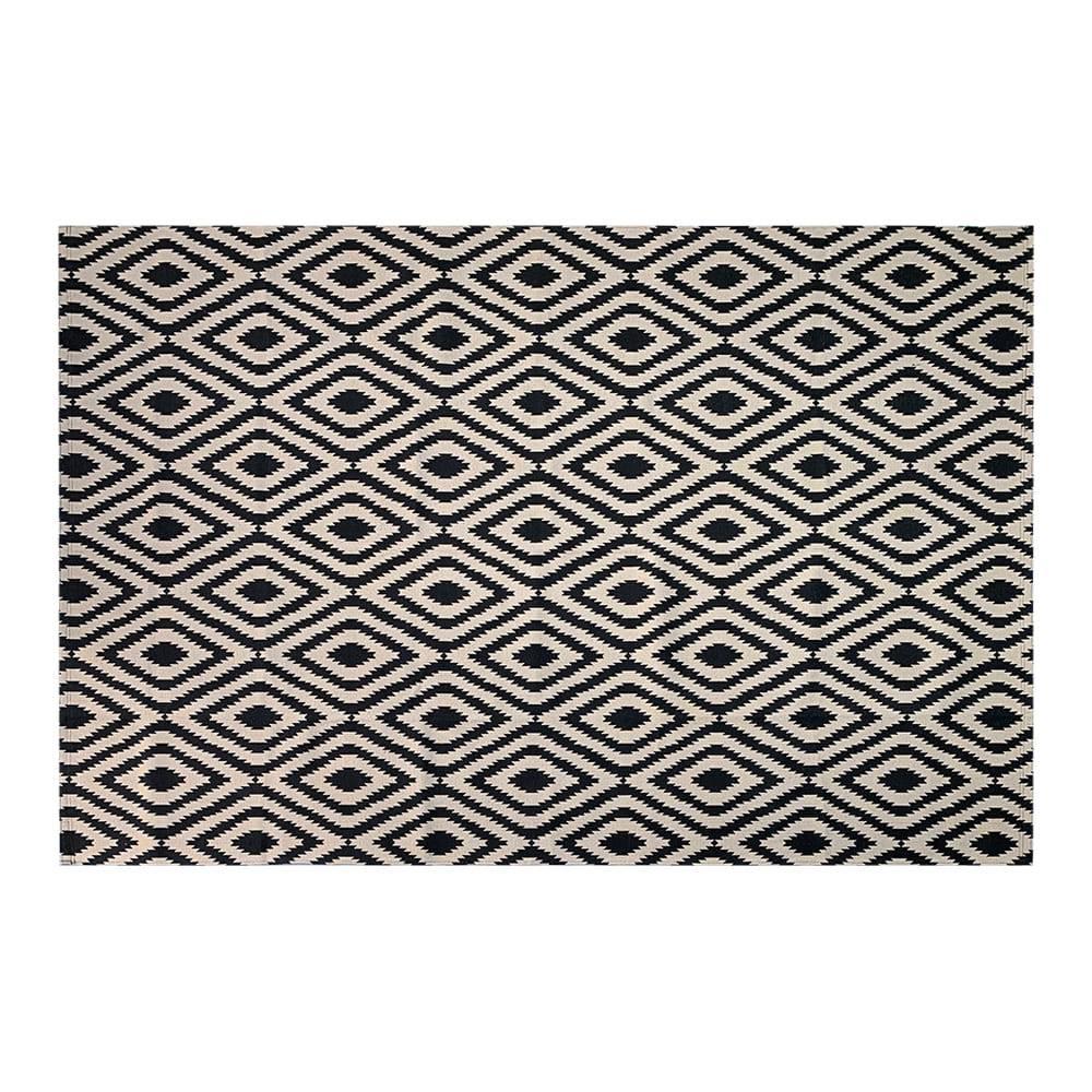 Tapete de Sala Contemporâneo Andino Antiderrapante 2,00m x 1,32m - Bege