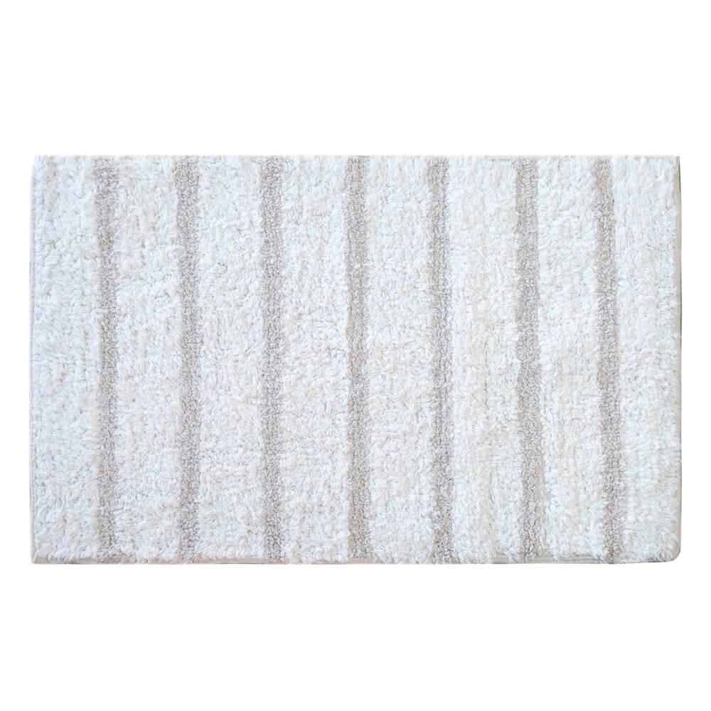 Tapete de Banheiro 45cm x 70cm Indiano Curaçau Off White