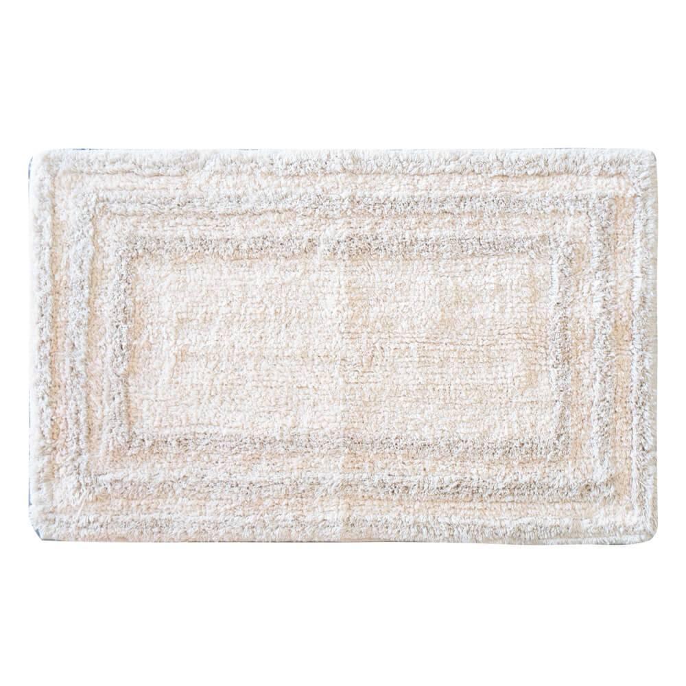 Tapete de Banheiro 45cm x 70cm Indiano Malibu Off White