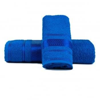 Jogo de Toalhas Banho Luiza Azul Royal