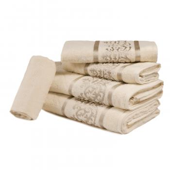 Jogo de Toalhas 5 peças 100% algodão Dubai - Off White