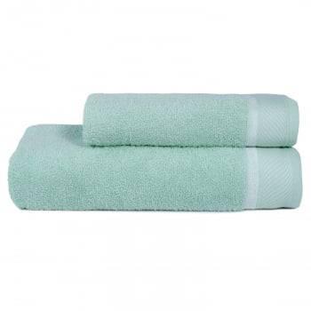 Jogo Toalhas Banho 2 Peças Eleganz 100% algodão  Verde