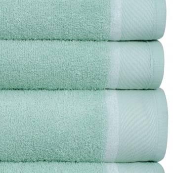 Jogo Toalhas Banho 4 Peças Eleganz 100% algodão  Verde