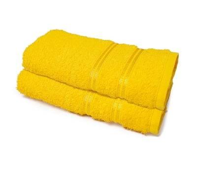 Toalhas de Rosto para Academia 25 cm x 85 cm 2 Peças - Amarelo