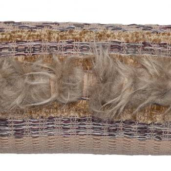 Capa de Almofada Baguete Artesanal 24cm x 80cm Nina Bege