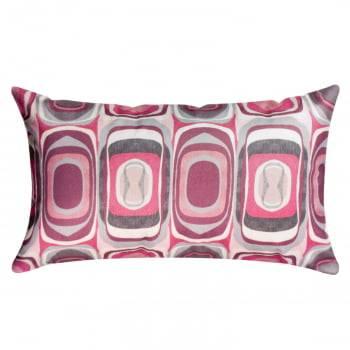 Almofada Baguete Suede Veludo Pedras 25cm x 42cm - Rosa