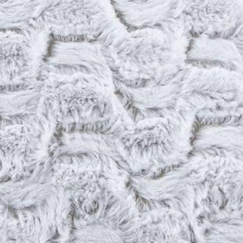 Capa de Almofada Texturizada Geométrica Mescla Branca com Caramelo 45cm x 45
