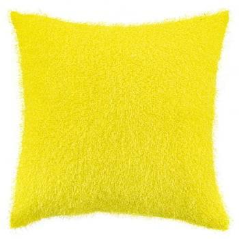 Capa de Almofada Texturizada Pelucia Amarelo 45cm x 45cm