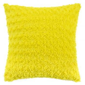 Capa de Almofada Texturizada Rosas Amarelo 45cm x 45cm