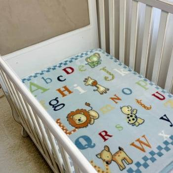 Cobertor Bebê Raschel ABC Antialérgico - Corttex