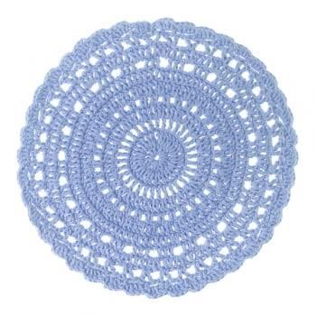 Sousplat de Crochê de Mesa Azul
