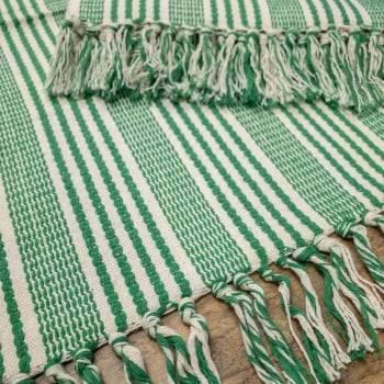 Jogo 3 Tapetes de Cozinha Algodão Ferrara Verde