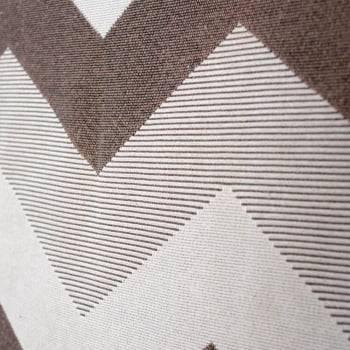Tapete de Sala Contemporâneo Chevron Titanium Marrom Antiderrapante 1,50m x 2,50m