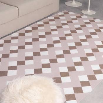 Tapete de Sala Contemporâneo Cristal Chocolate Antiderrapante 1,50m x 2,50m