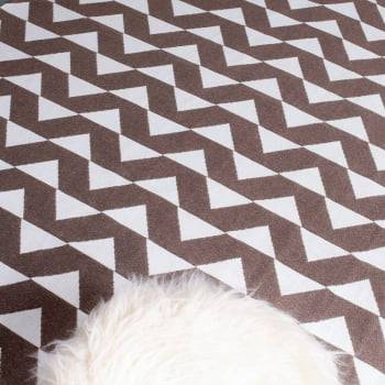 Tapete de Sala Contemporâneo Nefrita Chocolate Antiderrapante 1,50m x 3,00m