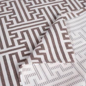 Tapete de Sala Contemporâneo Quartzo Chocolate Antiderrapante 1,50m x 2,50m