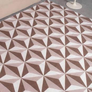 Tapete de Sala Contemporâneo Rubi Chocolate Antiderrapante 1,50m x 2,50m