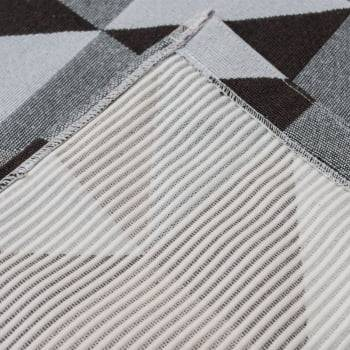 Tapete de Sala Dubai Antiderrapante 1,50m x 3,00m - Marrom c/ Cinza