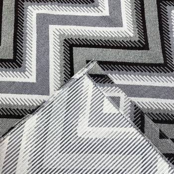 Tapete de Sala Oslo Antiderrapante 1,50m x 2,00m - Marrom c/ Cinza