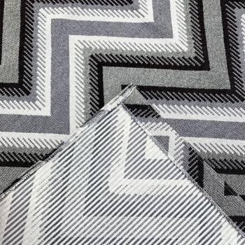 Tapete de Sala Oslo Antiderrapante 1,50m x 3,00m - Marrom c/ Cinza