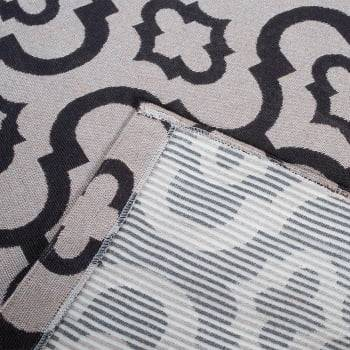 Tapete de Sala Roma Antiderrapante 1,50m x 2,50m - Bege c/Marrom