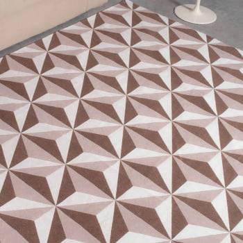 Tapete Pequeno para Sala ou Quarto Rubi Chocolate Antiderrapante 1,50m x 1,50m